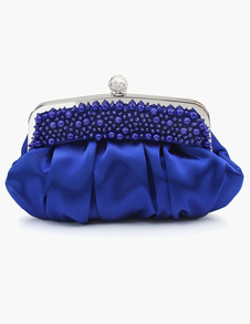 Silk Pearl Clutch in 4 Colors with Detacbable Chain