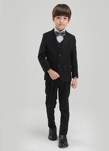 Black Boy's Suit Chic Bow Tie Polyester Children's Suit