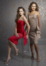Fabulous Knee Length Wrapped Strapless Satin Cocktail Homecoming Dress