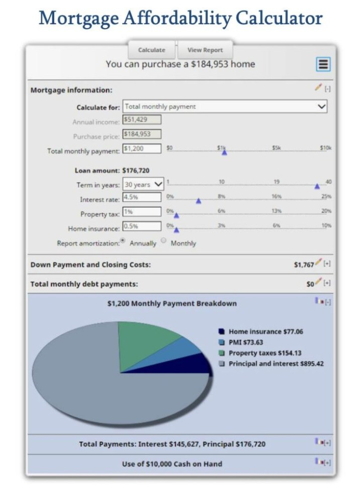 Mortgage Affordability Calculator - how much house can i afford