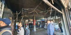 شاهد ما حدث اليوم : احتراق سوبر ماركت في غزة بعد افتتاحه بشهرين