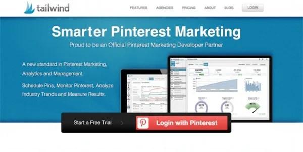 Tailwind social media marketing screenshot