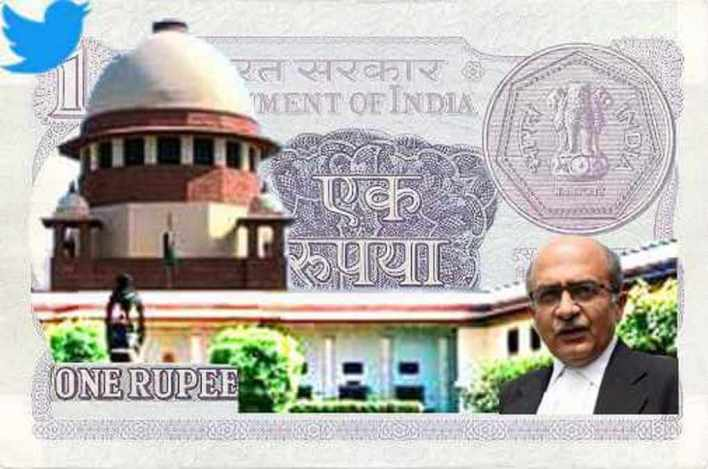 one rupee' fine for 'contempt of court':   ml update