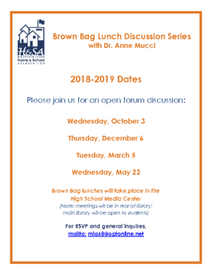 Brown Bag Lunch Discussion Series