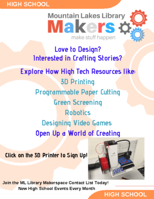 ML Library Makers Club – Events for High School Students