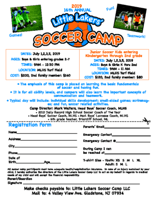 Little Lakers Soccer Camp