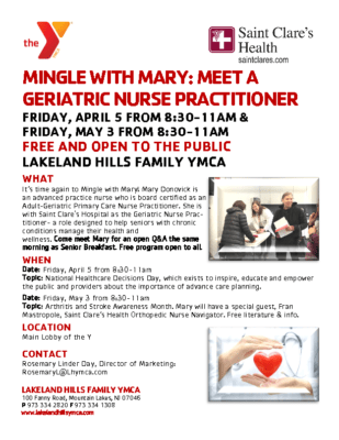 Mingle with Mary – Meet a Geriatric Nurse Practitioner