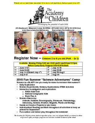 Summer Science Camp – The Academy for Children