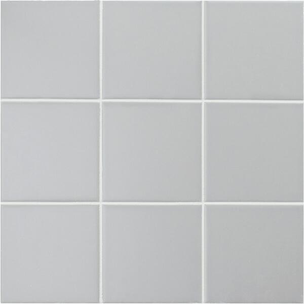 4 x4 matte grey ceramic mosaic tiles