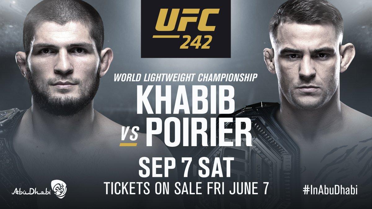 UFC 242: Khabib Nurmagomedov and Dustin Poirier to unify lightweight title