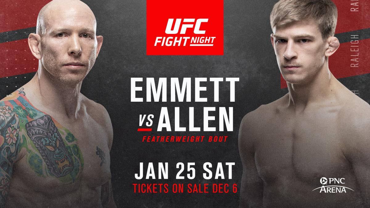 UFC on ESPN+ 24: Josh Emmett vs. Arnold Allen added