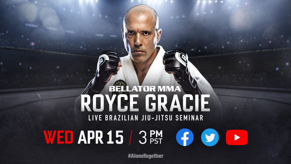 Bellator to live stream Royce Gracie jiu-jitsu seminar, beginning at 6 p.m. ET