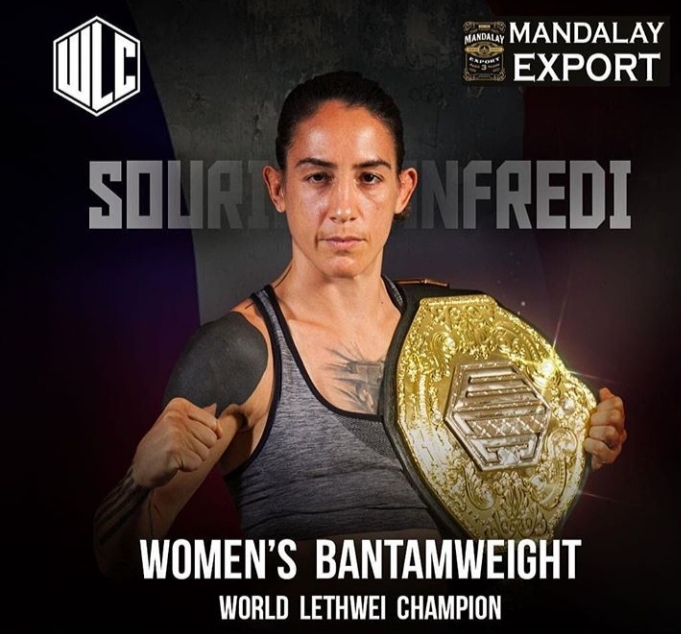 Souris Manfredi confirms on The Wiseman Report her next fight will be against Petchjeeja Lukjaoporongtom