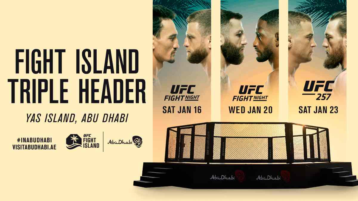 UFC gears up for Fight Island triple-header in January