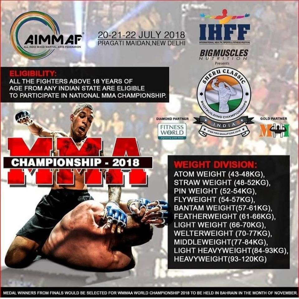 AIMMAF organises 2nd National MMA Championship 2018 in Delhi -