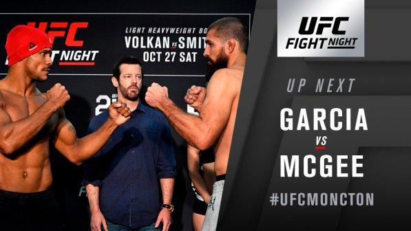 UFC Fight Night 138 Oezdemir vs. Smith Results: Court McGee defeated Alex Garcia via Unanimous Decision -