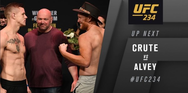 UFC 234 Results: Jim Crute Wins in First Round Via Stoppage -