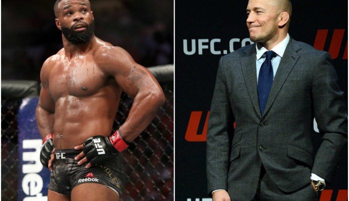 Tyron Woodley would love to 'cross paths' with all time great GSP at least in the gym - Tyron