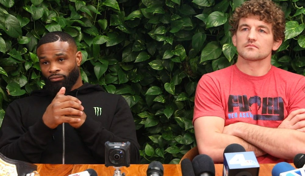 Watch: Ben Askren comes up with a ridiculous rap song for training partner Tyron Woodley -