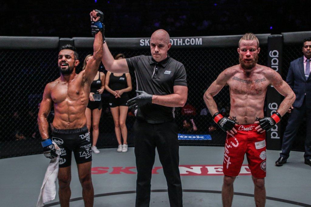 VIDEO: Gurdarshan Mangat wins in his ONE fighting championship debut in Myanmar - Gurdarshan