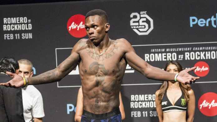 Israel Adesanya disputes Yoel Romero's legitimacy on social media -