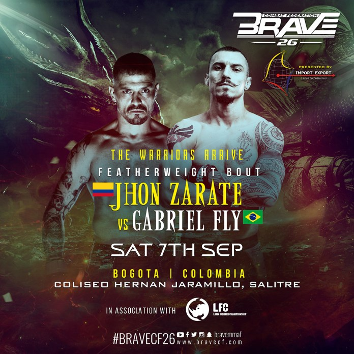 """Gabriel """"Fly"""" returns to face Colombian bad boy Jhon Zarate at BRAVE 26 -"""