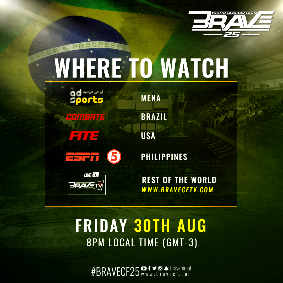 BRAVE TV to broadcast return to Brazil live and free -