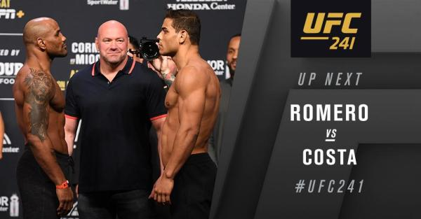 UFC 241 Results - Paulo Costa Wins A Three Round War Against Yoel Romero, Calls for a Title Shot -