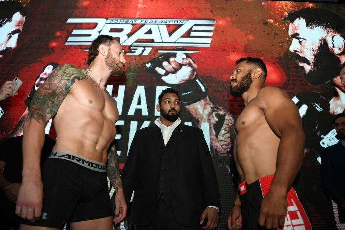 BRAVE CF 31 weigh-ins: inaugural Middleweight title fight gets the green light -