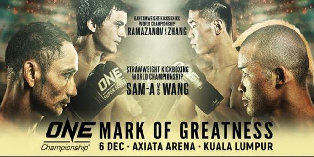 ONE: MARK OF GREATNESS FINAL WEIGHT AND HYDRATION RESULTS - ONE Championship