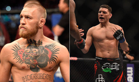 Conor McGregor reacts to Nick Diaz returning back to the octagon - McGregor