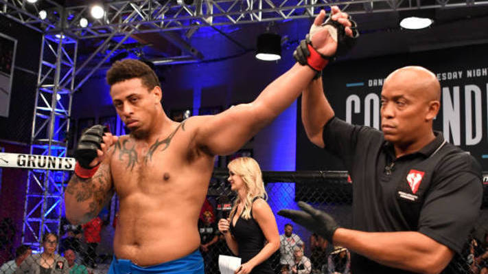 Former NFL DE Greg Hardy Destroys Opponent With 17-Second Knockout