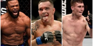 welterweight Tyron Woodley Colby Covington Darren Till