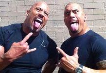 """Dwayne """"The Rock"""" Johnson și dublura sa sunt aproape identici. Vezi cum arată cei doi față-n față"""