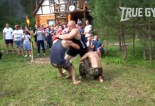 Brock Lesnar de Rusia într-o luptă de MMA 2 contra 1 (VIDEO)