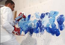 VIDEO. Cum arată îmbinarea dintre arta boxului cu arta picturii