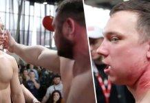 (VIDEO) Urmărește finala campionatului de dat palme din Rusia! Oameni făcuți KO dintr-o palmă!