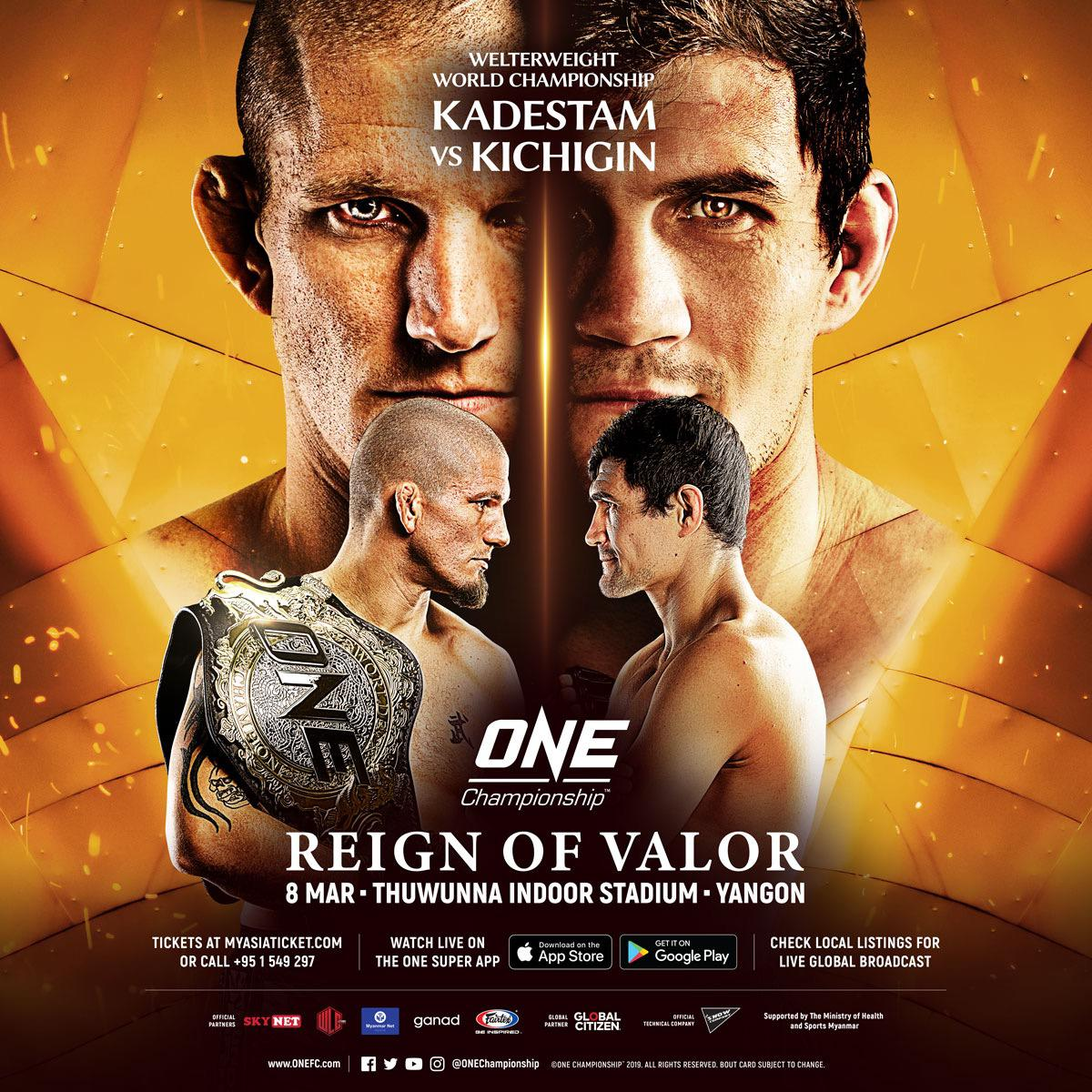 Zebaztian Kadestam To Defend Title Against Georgiy Kichigin At One: Reign Of Valor
