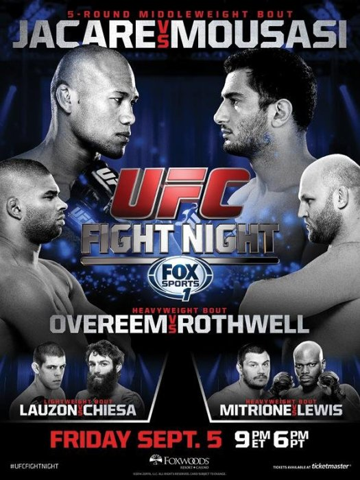 UFC Fight Night 50 Results - Who Won at Jacare vs. Mousasi 2