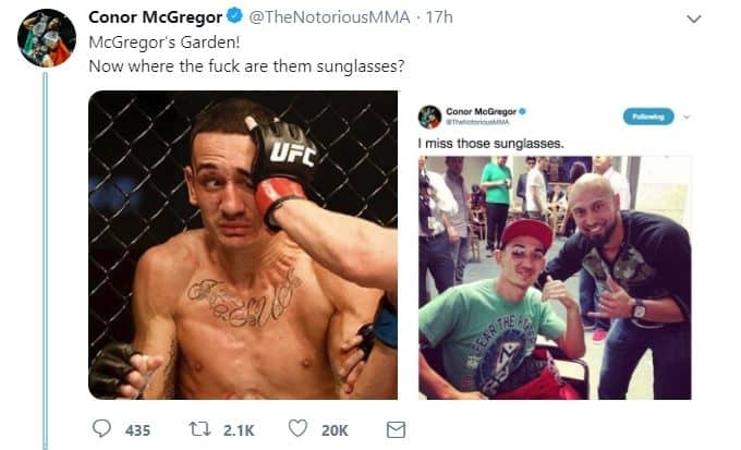 Conor McGregor Max Holloway