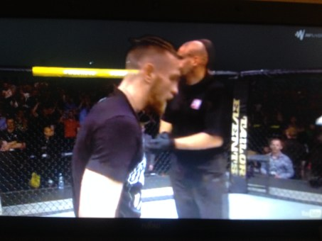 Leon Roberts in the Cage for Mcgregor Vs Brandao UFC FN 46