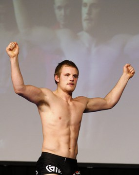 Gunnar at the weigh ins
