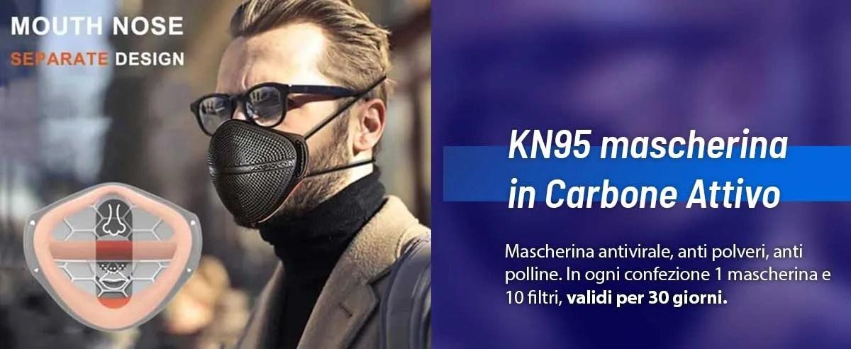 ffp2 kn95 mascherina carbone attivo