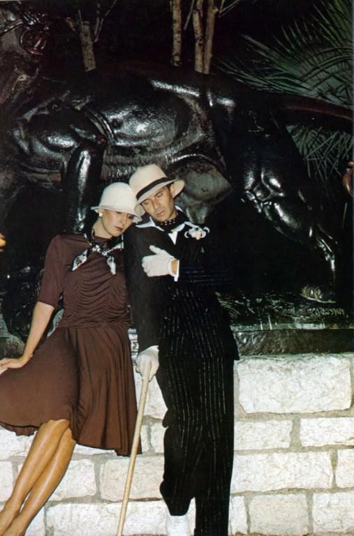 Anjelica Huston and Manolo Blahnik, Vogue, 1974.