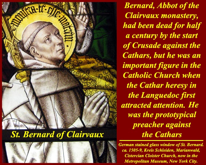 Image result for St. Bernard of Clairvaux and the cathars images