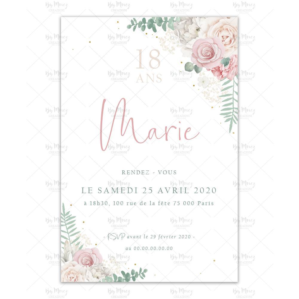 invitation anniversaire theme douceur champetre