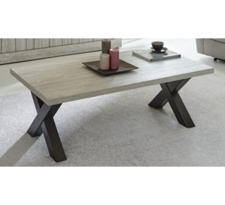 table basse chene gris clair contemporain liberty