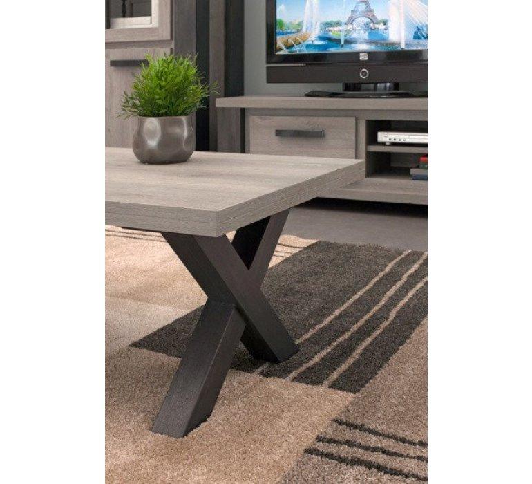 table basse chene gris clair et anthracite contemporain alteo
