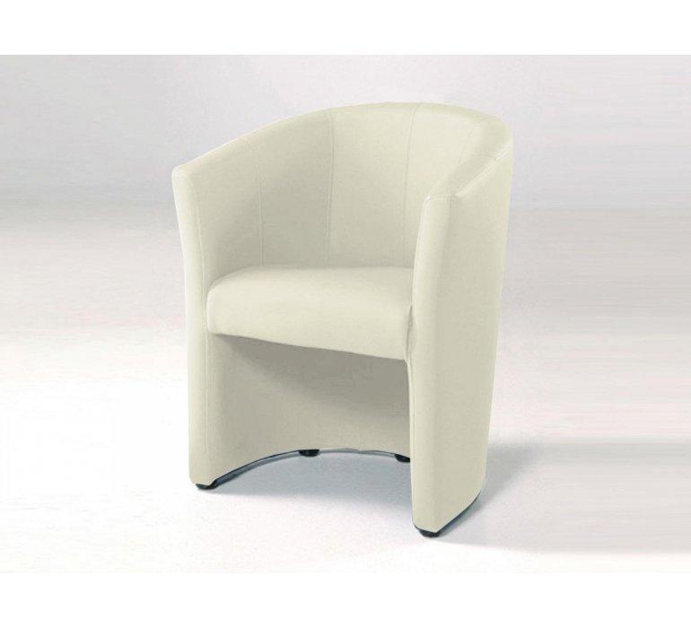fauteuil cabriolet pu blanc design lazio
