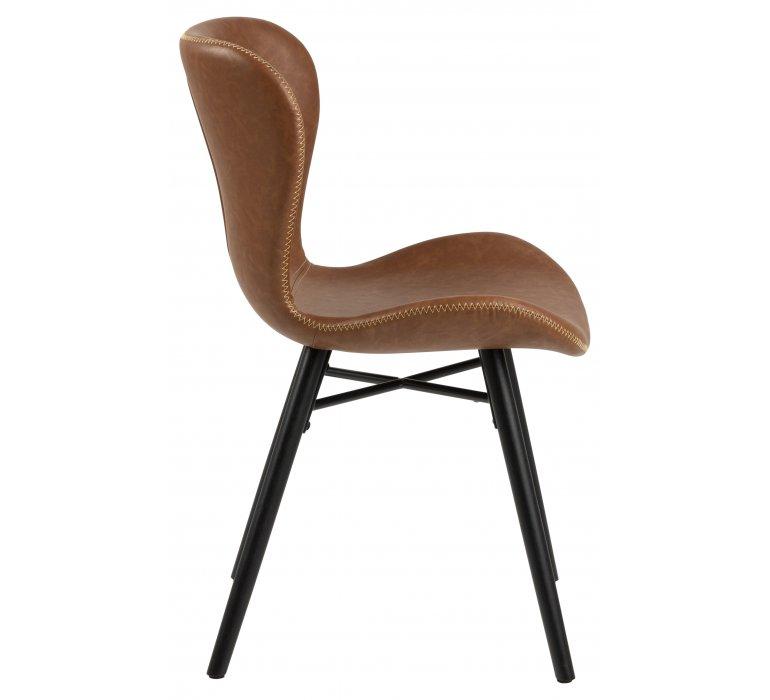 chaise industrielle vintage effet cuir vieilli lot de 2 yankees